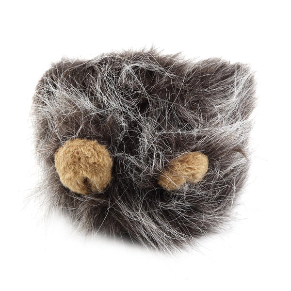 Grey Lion Mane and Ears Cat Costume