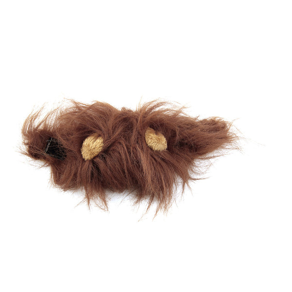 Light Brown Lion Mane and Ears Cat Costume