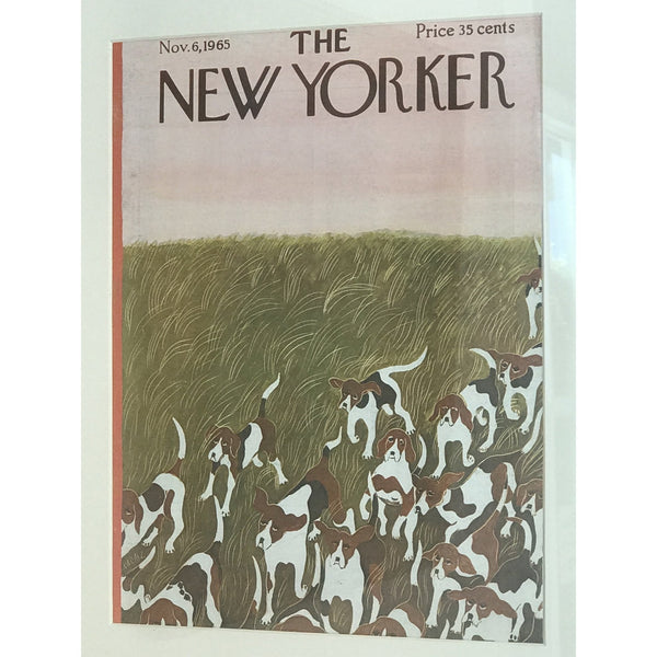 1965 Original New Yorker Cover HOUNDS - POSH