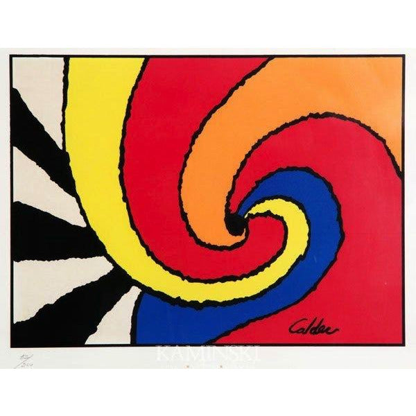 1970 SWIRLS, Original Lithograph by Alexander Calder - POSH