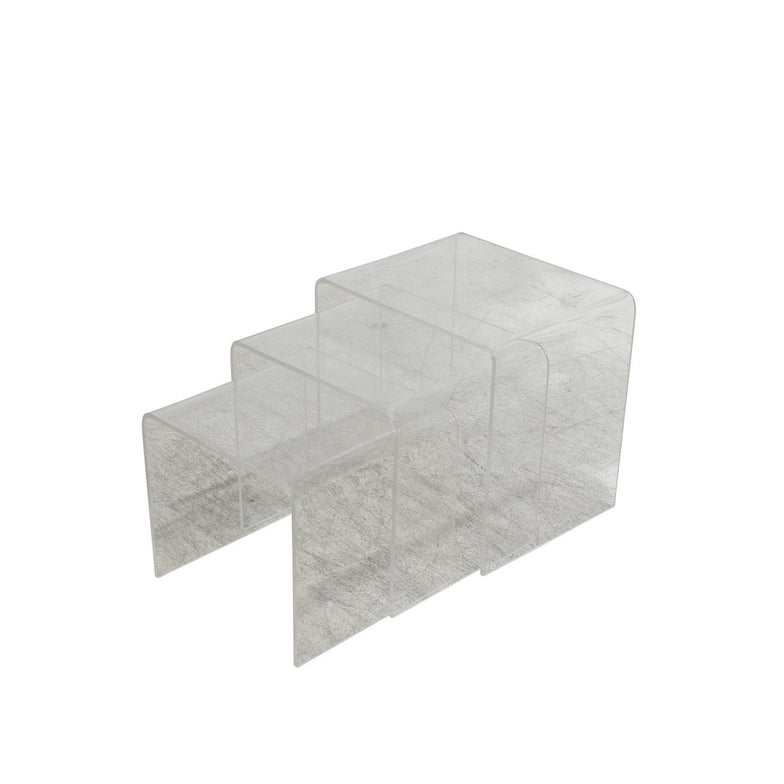 1970's Lucite Nesting Tables - POSH