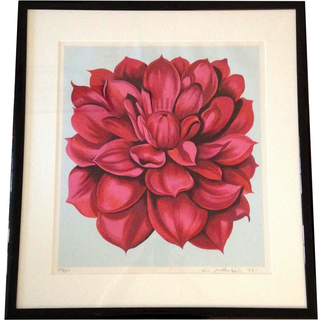 1981 STAMP SERIES 2  Floral Serigraph by American Lowell Blair Nesbitt - POSH