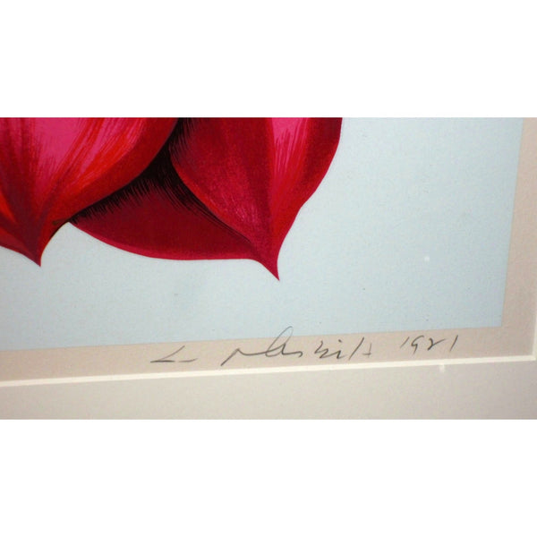 1981 STAMP SERIES 2  Floral Serigraph by American Lowell Blair Nesbitt - The Posh Shop