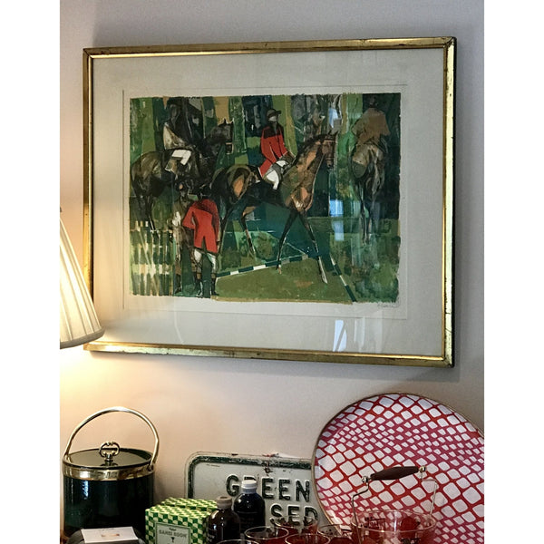 Abstract Horse Racing Lithograph - POSH