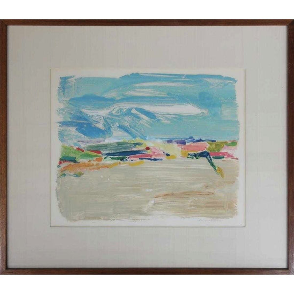 Abstract Seascape Gouache Painting - The Posh Shop
