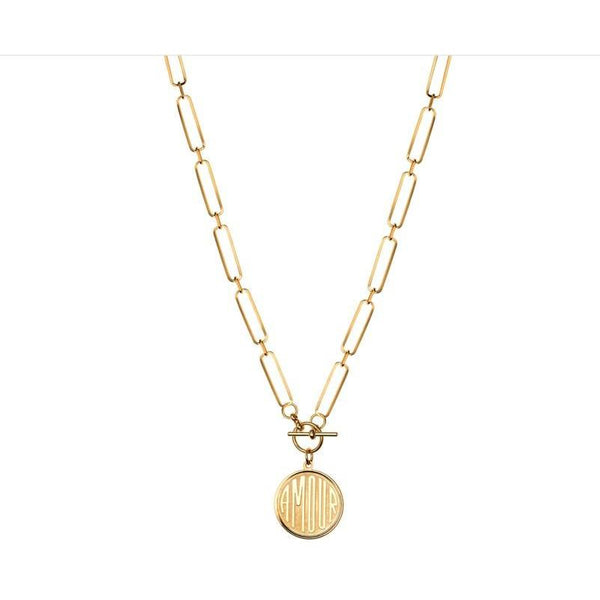 AMOUR Toggle Necklace - The Posh Shop