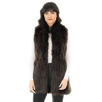 Apres Mink Vest - Espresso Medium - The Posh Shop