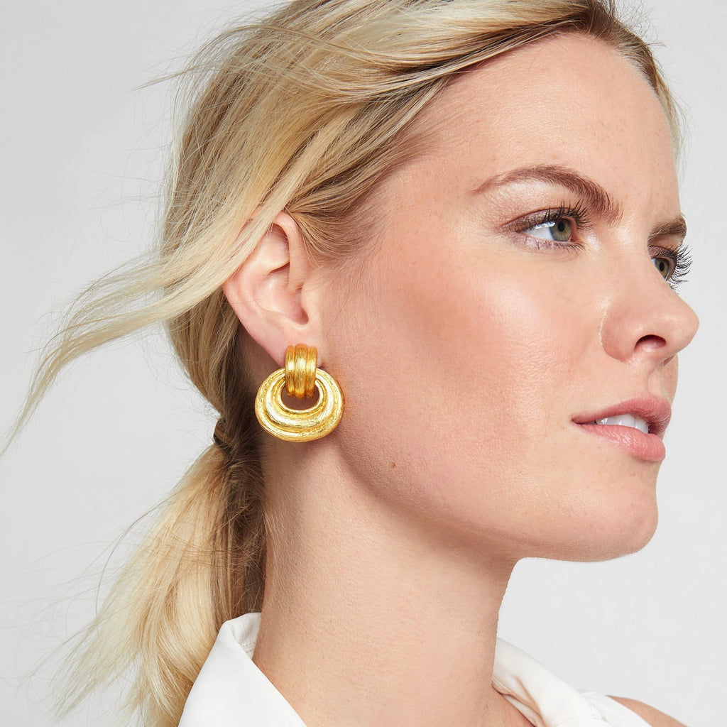Barcelona Doorknocker Clip Earrings - POSH