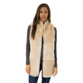Chalet Shearing Vest - Ivory Small - The Posh Shop