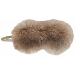 Champagne Red Plaid Faux Fur Eye Shade - The Posh Shop