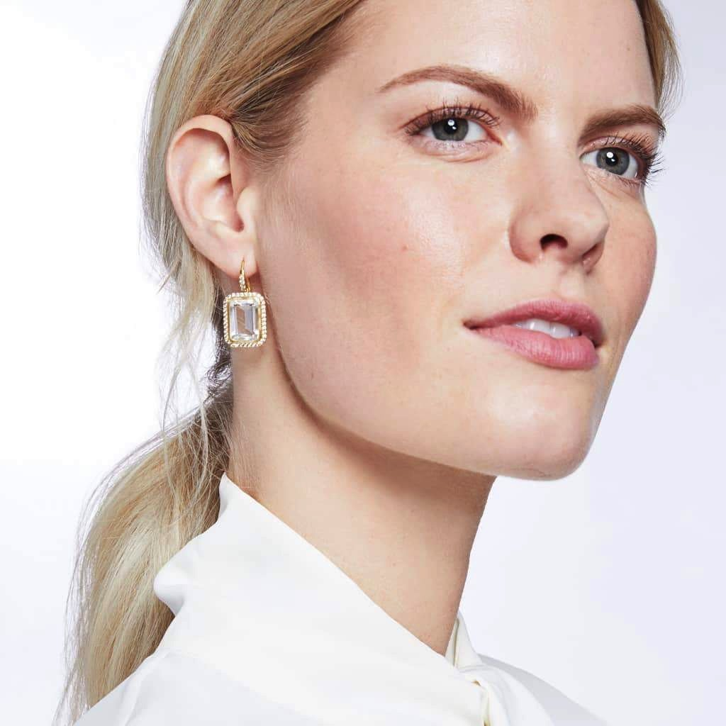 Clara Luxe Earring - Clear Crystal - POSH