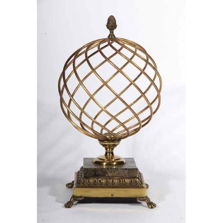 Decorative Hollywood Regency Brass Orb - POSH