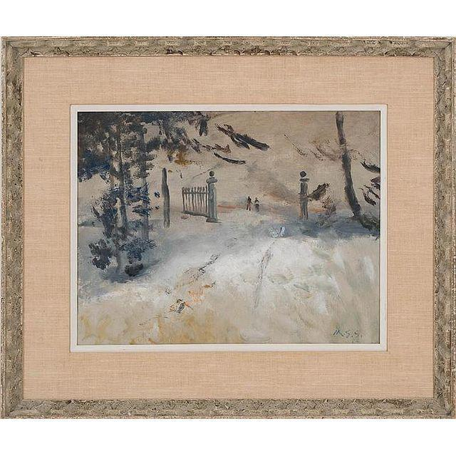 Driveway in Snow by Maxwell Stewart Simpson, 1964 - The Posh Shop