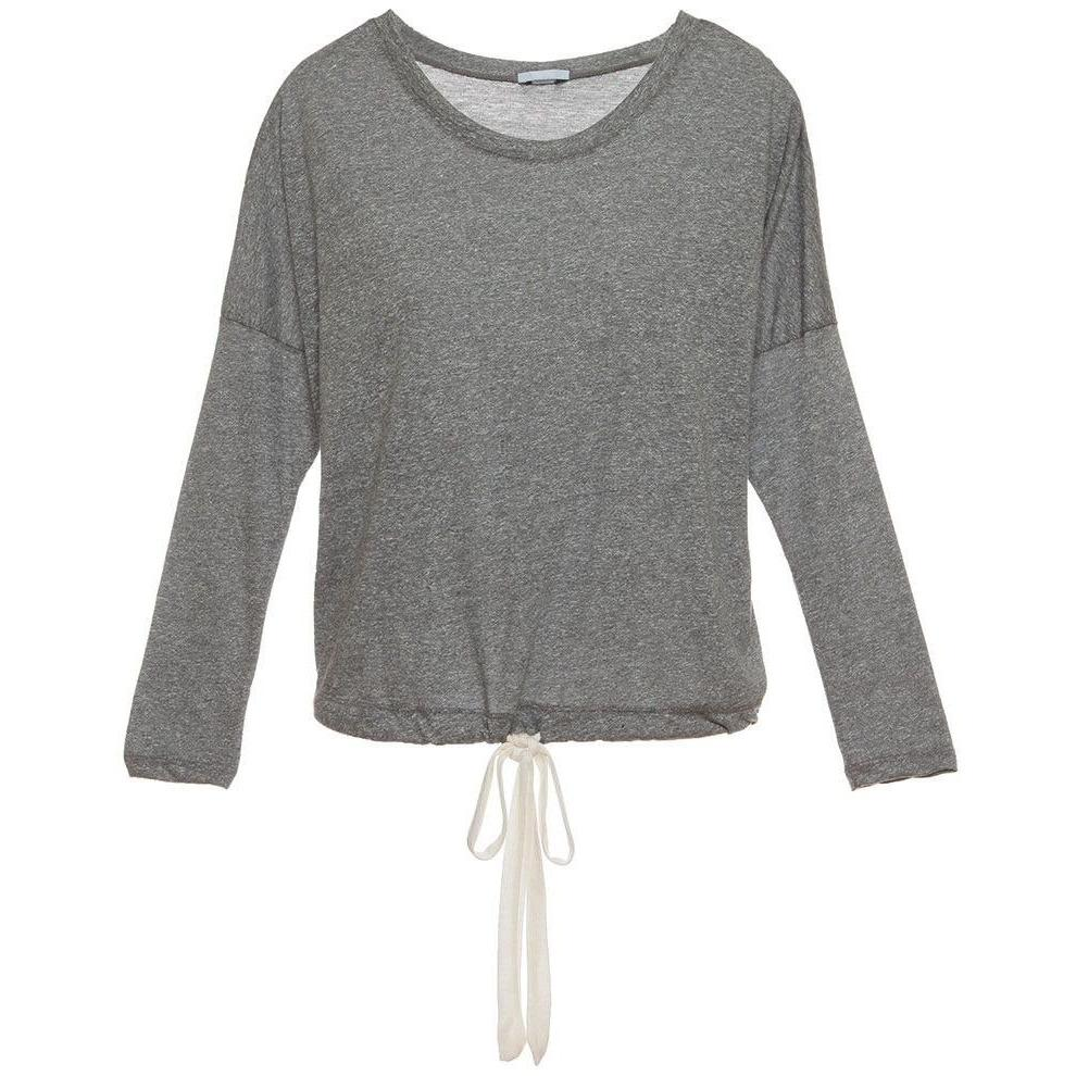 Eberjey Heather Cropped Tee - HEATHER GRAY - LARGE - POSH