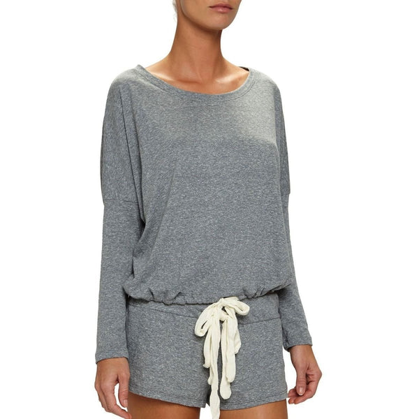 Eberjey Heather Cropped Tee - HEATHER GRAY - LARGE - The Posh Shop