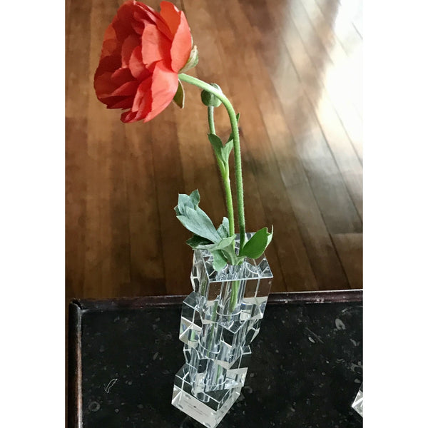 Escalier Crystal Bud Vase - Medium - The Posh Shop