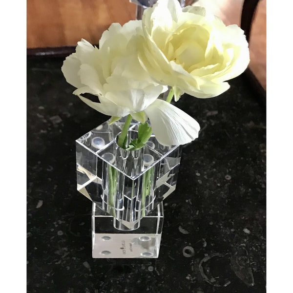 Escalier Crystal Bud Vase - Short - The Posh Shop