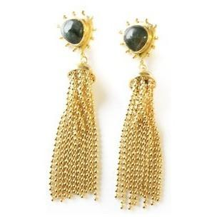 Everett Tassel Earrings with Labradorite - POSH