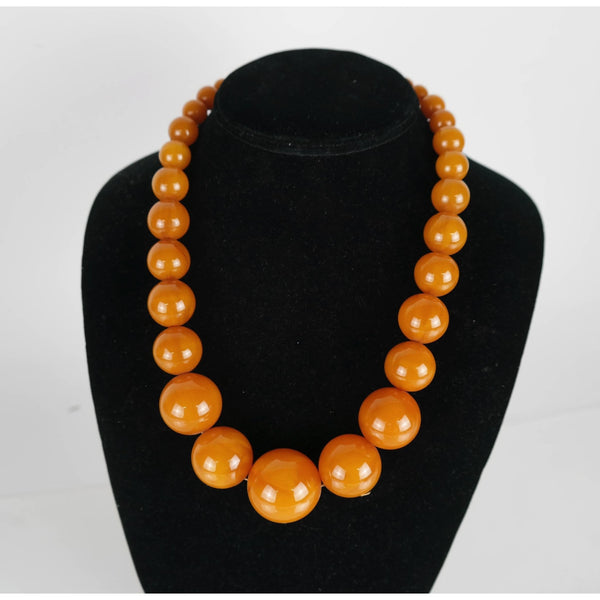 Faux Amber Bead Necklace - POSH
