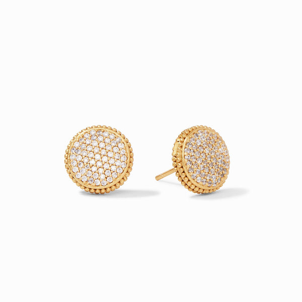 Fleur-de-Lis Pave Studs - Cubic Zirconia - The Posh Shop