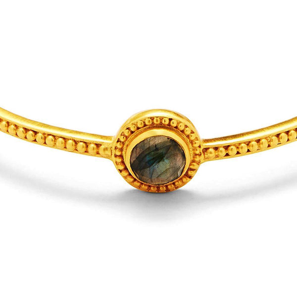 Florentine Stone Bangle - Labradorite - The Posh Shop