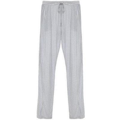 Georgie Striped Drawstring Pants - Cloud/Chambray SMALL - POSH