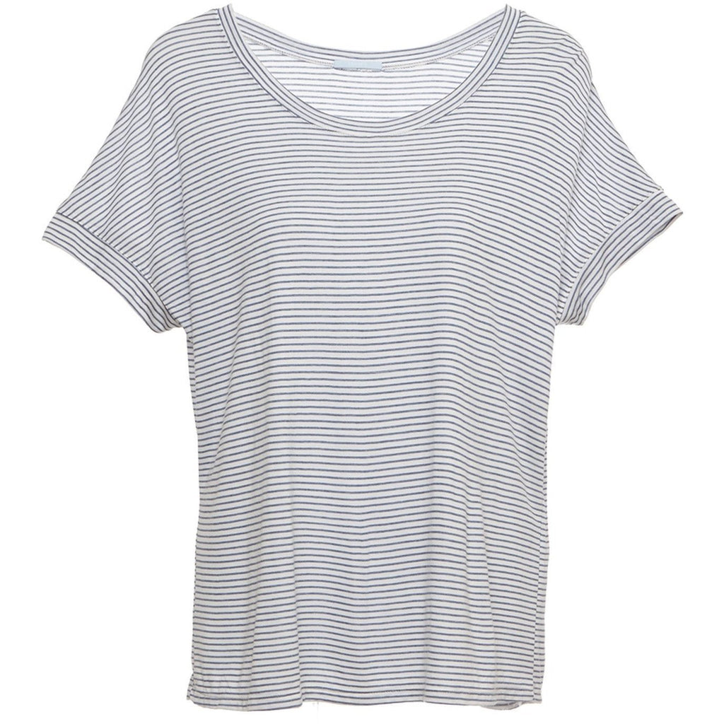 Georgie Striped Short Sleeve Top - Cloud/Chambray MEDIUM - POSH