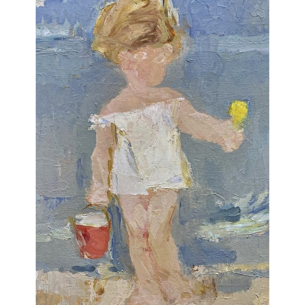 GIRL AT THE BEACH, Oil Painting - POSH