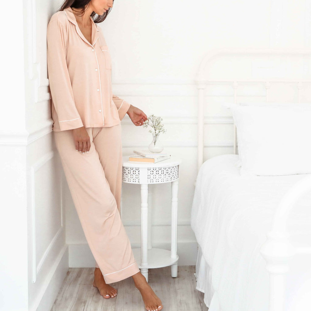 GISELE PJ Set - Misty Rose LARGE - The Posh Shop
