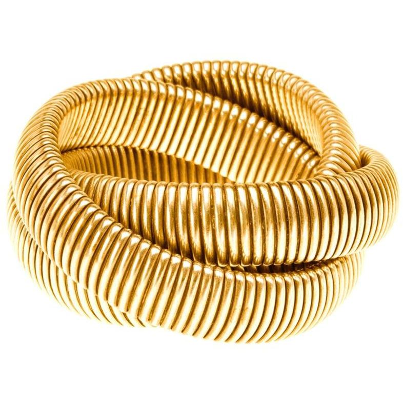 High Polished Triple Band Cobra Bracelet - The Posh Shop