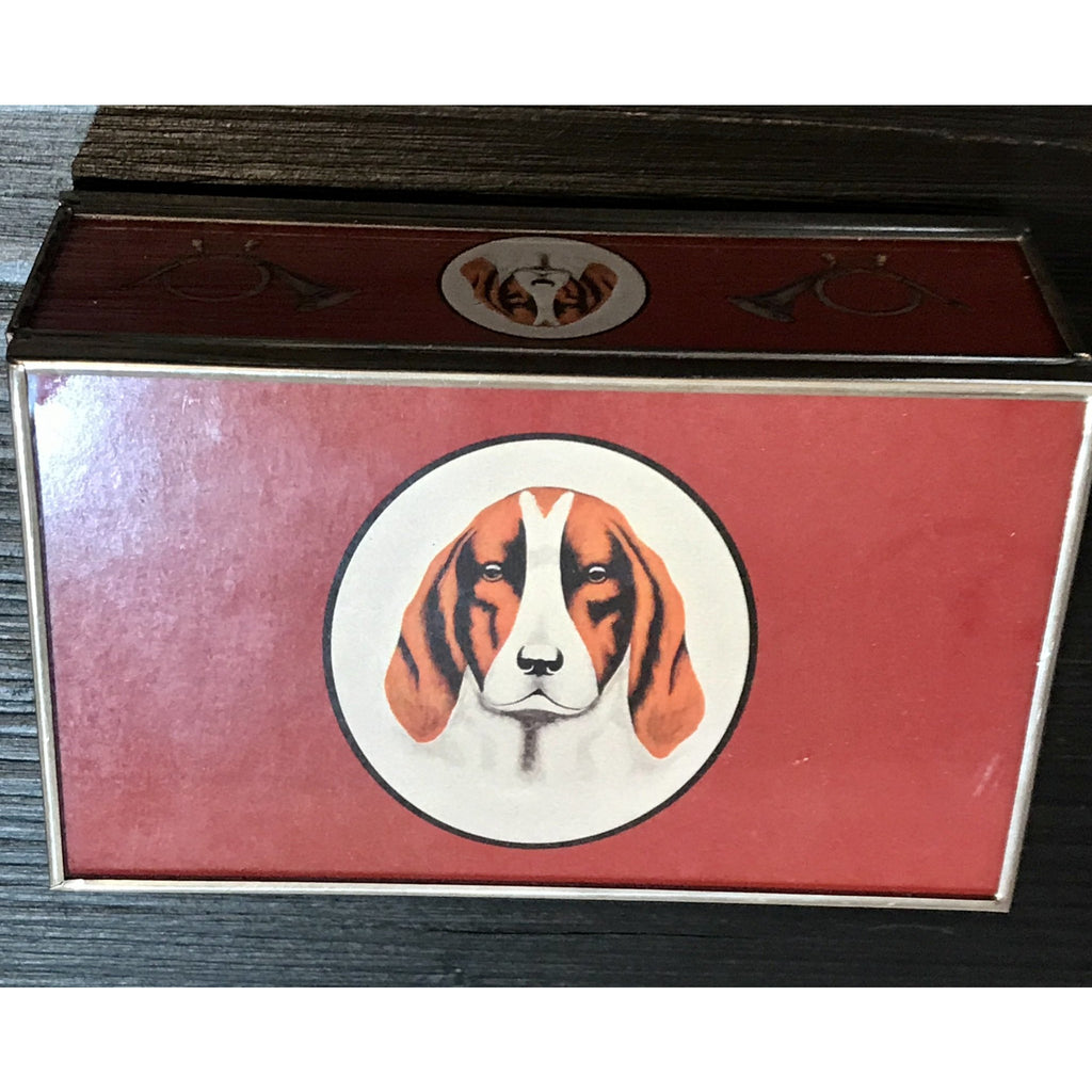 Hound Glass Matchbook Cover - Red - POSH