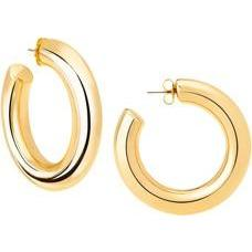 Large Polished Gold Hoop Earring - The Posh Shop