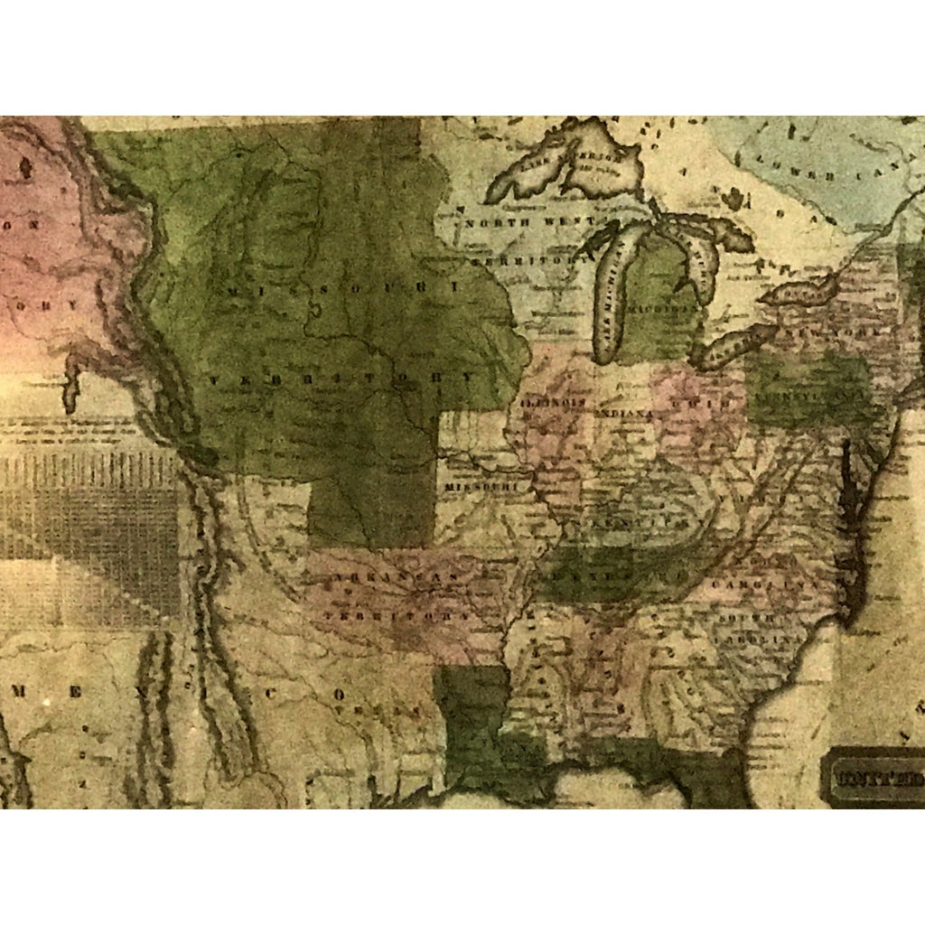 Map of the United States, 1830 - The Posh Shop