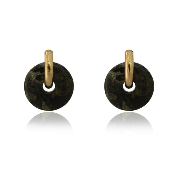 Mare Green Jasper Hoop Earrings - The Posh Shop