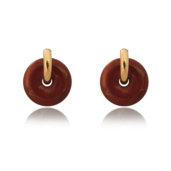 Mare Red Jasper Hoop Earrings - The Posh Shop