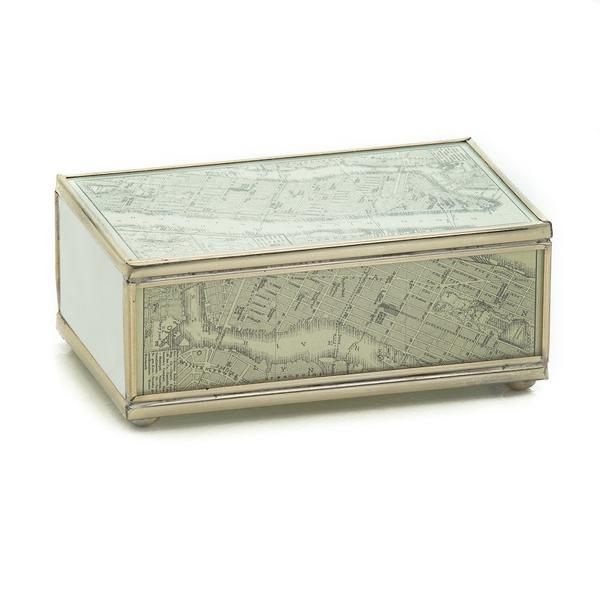 NEW YORK Map Glass Matchbook Cover - POSH