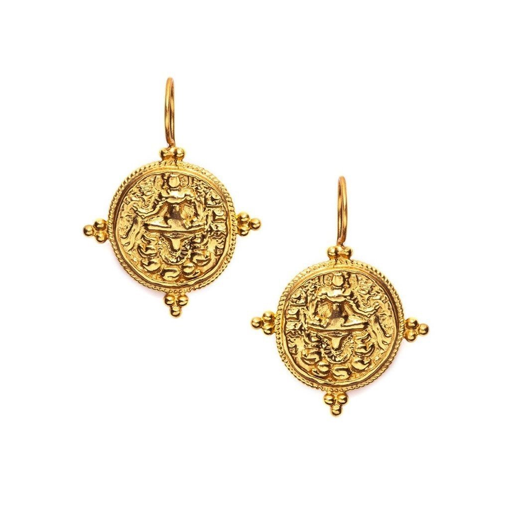 Quatro Coin Earrings - Gold - The Posh Shop