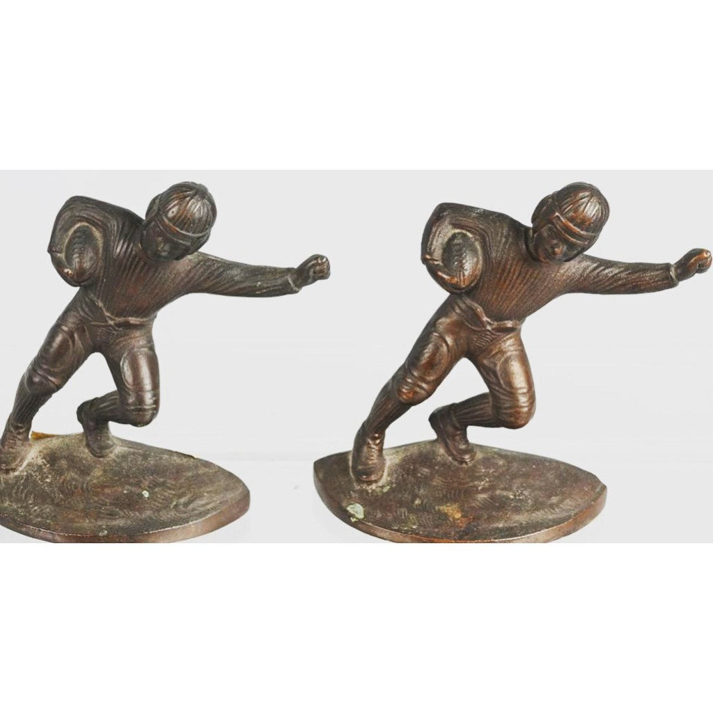 Rare 1920's Hubley Football Player Bookends - The Posh Shop
