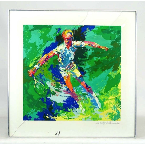 RARE Leroy Neiman TENNIS PLAYER Serigraph - The Posh Shop