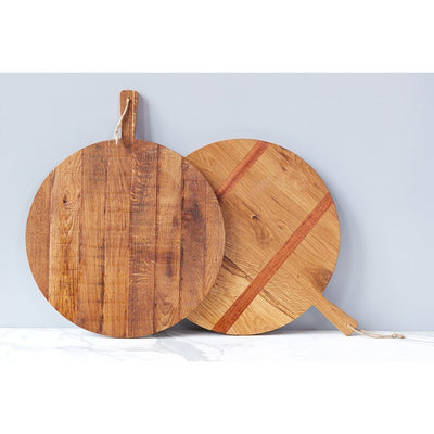 Round Oak Charcuterie Board - Large - The Posh Shop