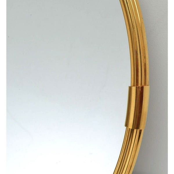 Sergio Mazza Style Round Brass Wall Mirror - The Posh Shop
