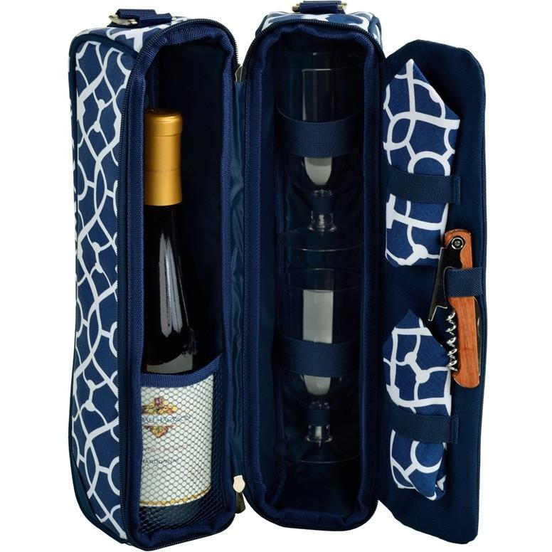 Sunset Wine Cooler, Trellis Blue - The Posh Shop