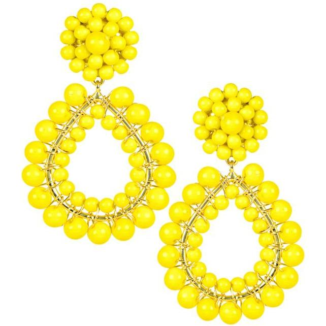 The Margo Post Earrings - Yellow - The Posh Shop