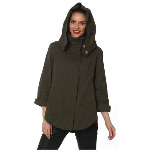 The SAVINA Raincoat - Olive - EXTRA LARGE - POSH