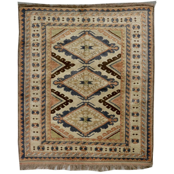 "Turkish Oriental Rug 5' x 5' 9"" - POSH"