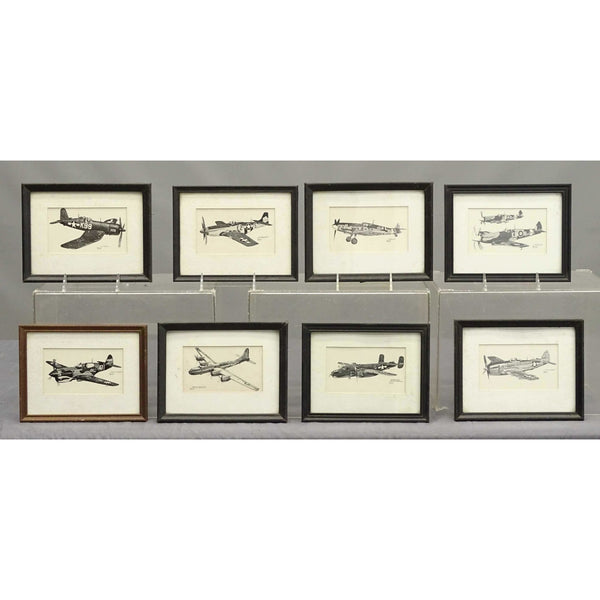Vintage WWII Fighter Plane Prints, Set of 8 ARRIVING SOON - POSH