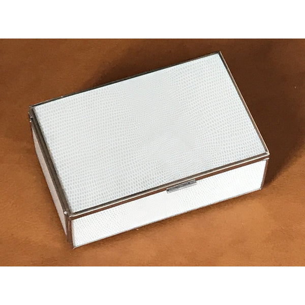 White Lizard Rectangular Glass Box - The Posh Shop