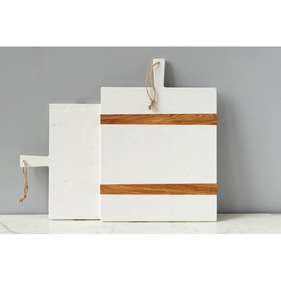 WHITE Rectangle Mod Charcuterie Board - DROP SHIP ONLY - The Posh Shop