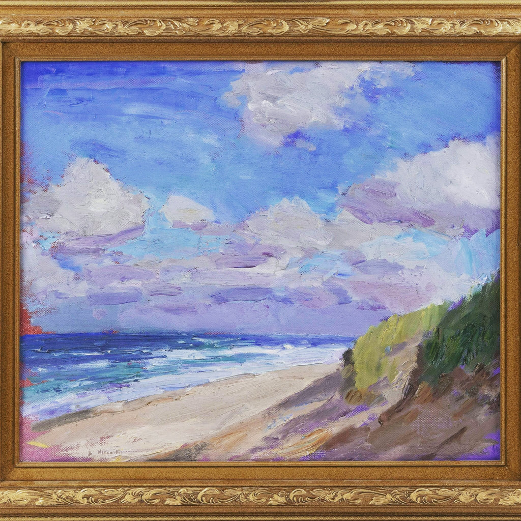 """Windy Beach"" Oil on Canvas by Contemporary Artist, Larry Horowitz - POSH"