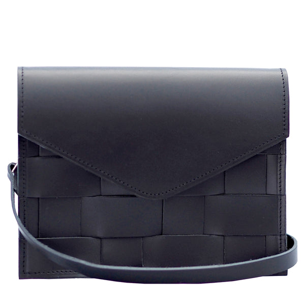 EDUARDS ACCESSORIES | Näver Mini Shoulder Bag in Black Leather